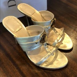 Authentic Christian Dior Gold Mules INA size 37